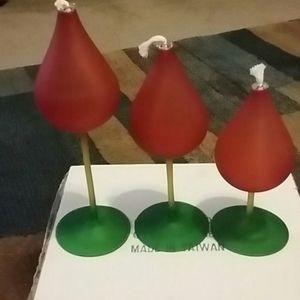 Oil lamps set of 3